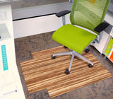 "Strand-Woven Bamboo Roll-Up Chairmat, 36"" x 48"", with lip"
