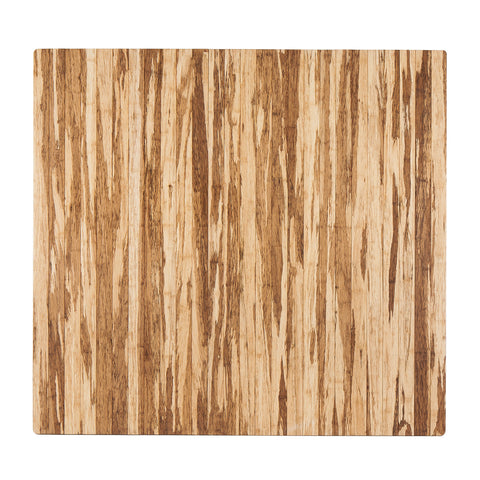 "Strand-Woven Bamboo Roll-Up Chairmat, 52"" x 48"", no lip"