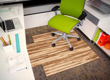 "Strand-Woven Bamboo Roll-Up Chair mat, 44"" x 52"", with lip"