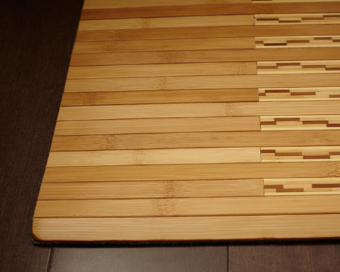 Bamboo Kitchen & Bath Mat Detail