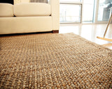 Cobblestone Jute Rug Weave Close UP