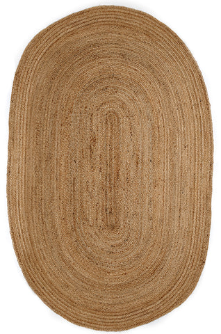 6' x 9' Oval Kerala Natural Jute Rug