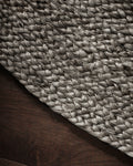 Kerala Dark Gray Jute Rug Weave Detail