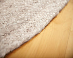 Kerala Creme Jute Rug Close Up On Weave