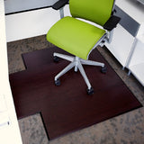 Dark Cherry Bamboo Tri-Fold Chair Mat