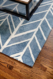 Pacific Tide Bamboo Viscose Area Rug Detail
