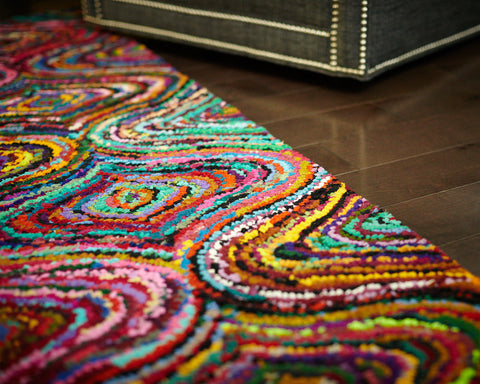 Lively Lucy Cotton Rug Weave Detail