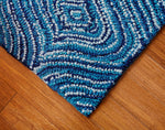 Splashy Sophie Cotton Rug Weave Pattern Close Up View