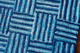 Rippled Quilt Cotton Rug Weave Detail