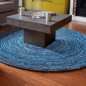 8' Round Ripple Effect Round Cotton Rug