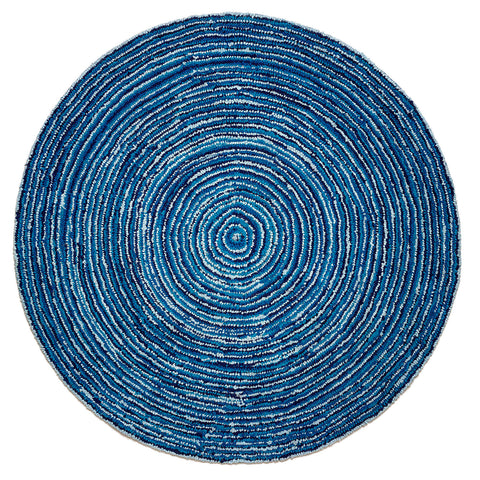 6' Round Ripple Effect Round Cotton Rug