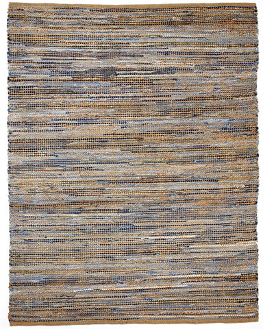 8' x 10' Fancy Pants Denim and Jute Area Rug
