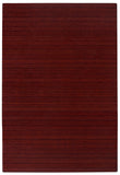 "72"" x 48"" Dark Cherry Bamboo Chair Mat, No Lip"