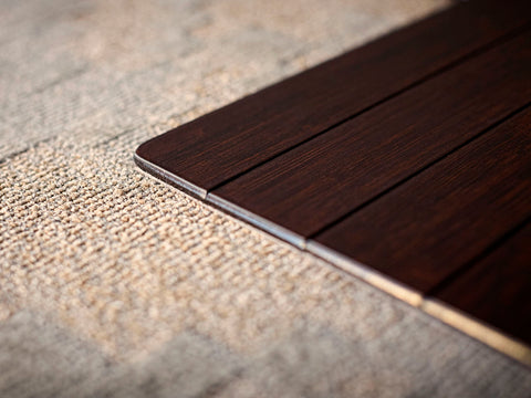 Dark Cherry Bamboo Chair Mat
