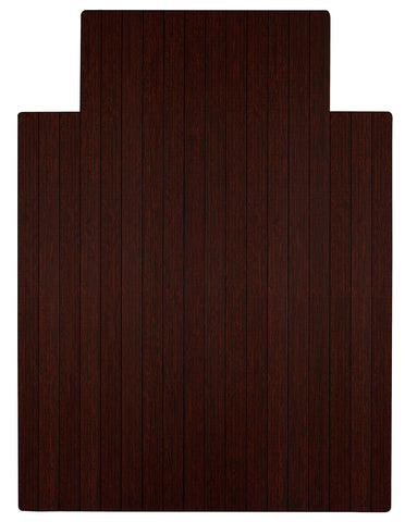 "36"" x 48"" Dark Cherry Bamboo Chair Mat"
