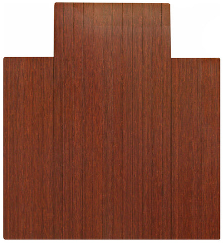 "44"" x 52"" Dark Cherry Bamboo Chair Mat"