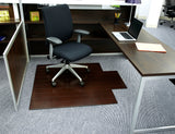 "44"" x 52"" Dark Cherry Deluxe Bamboo Chair Mat"