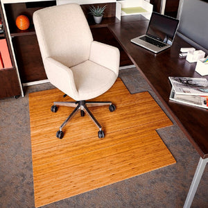 "55"" x 57"" Natural Bamboo Chair Mat"