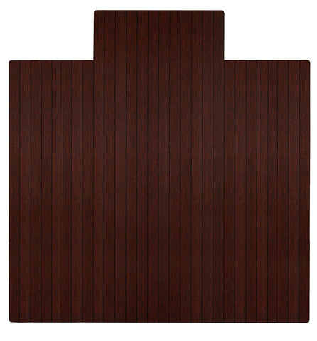 "55"" x 57"" Dark Cherry Bamboo Chair Mat"