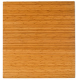 "52"" x 48"" Natural Bamboo Chair Mat, No Lip"