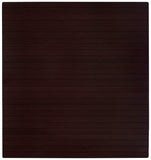 "52"" x 48"" Dark Cherry Bamboo Chair Mat, No Lip"