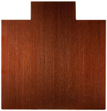 "55"" x 57"" Dark Cherry Deluxe Bamboo Chair Mat"