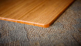 Natural Bamboo Chair Mat, No Lip Close Up Detail