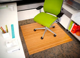 "43"" x 48"" Natural Deluxe Bamboo Roll-Up Chair Mat"
