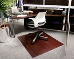 "42"" x 48"" Dark Cherry Bamboo Chair Mat, No Lip"