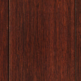 Dark Cherry Deluxe Bamboo Roll-Up Chair Mat Close Up Detail
