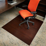 "60"" x 48"" Dark Cherry Bamboo Chair Mat, No Lip"