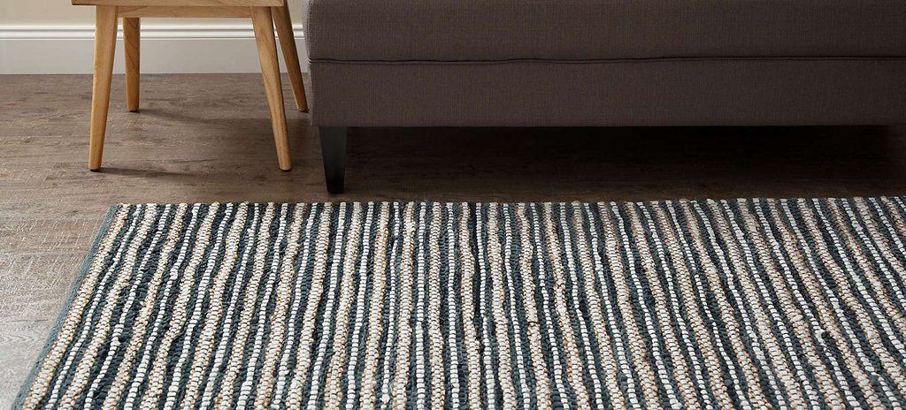 Pearl Ave Leather, Cotton & Jute Rug