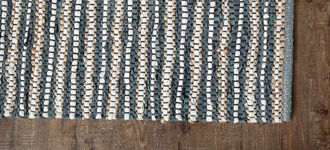 Pearl Ave Leather, Cotton & Jute Rug Weave Pattern