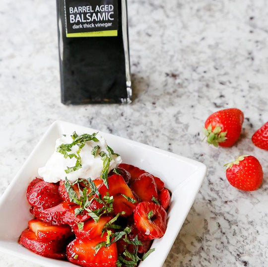 Barrel Aged Balsamic Strawberries