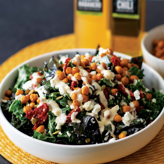 Roasted Chili Chickpea & Kale Salad