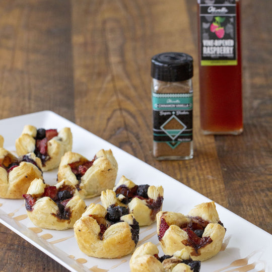 Triple Berry Brie Bites