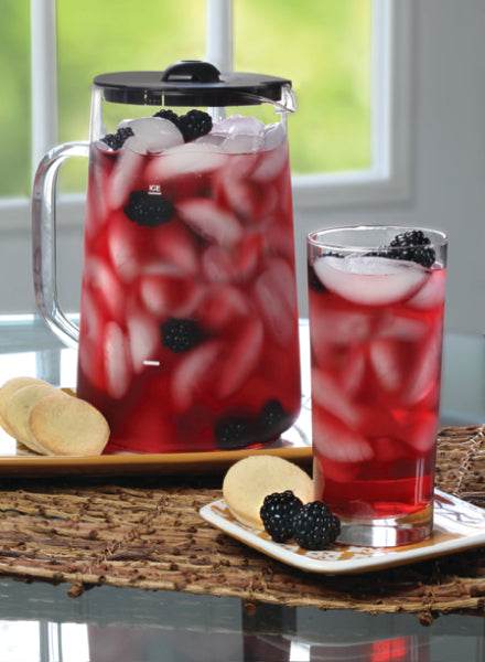 Blackberry Hibiscus Iced Tea
