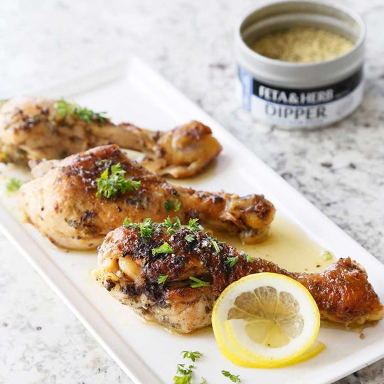 Feta & Lemon Braised Chicken Wings
