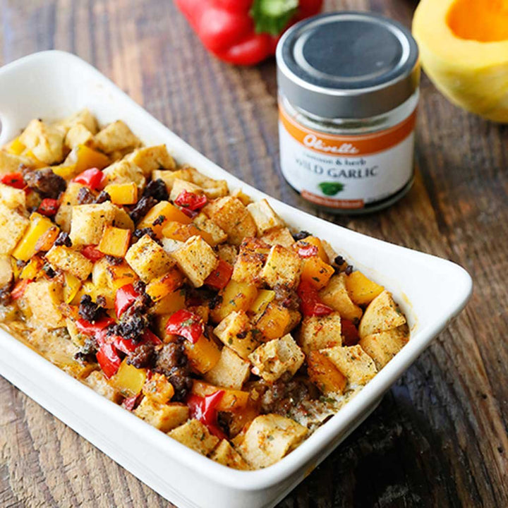 Sausage, Squash and Red Pepper Dressing (Stuffing)
