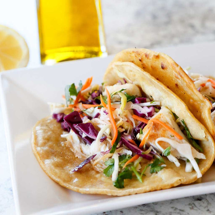 Zesty Fish Tacos With Cucumber Slaw