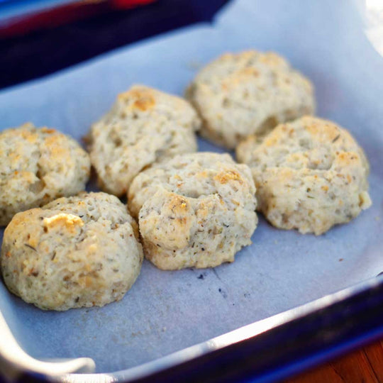 Olive Oil & Herb Drop Biscuits