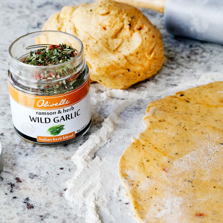 Wild Garlic Pizza Dough