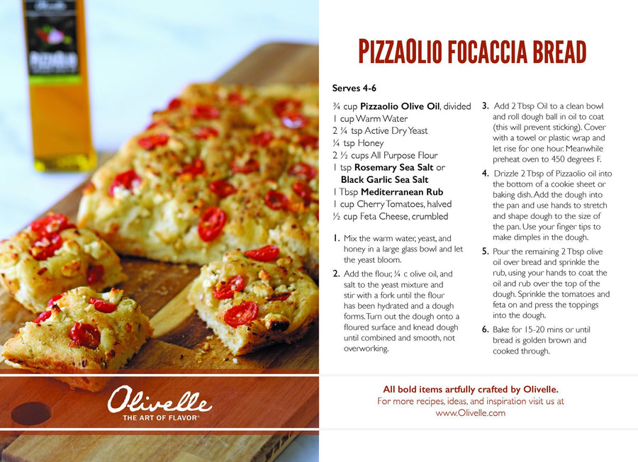 Pizzaolio Focaccia Bread Recipe Kit
