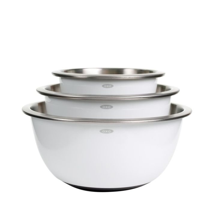 OXO - 3pc. Mixing Bowl Set Stainless Steel