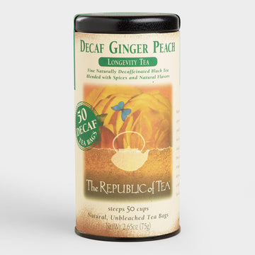 Decaf Ginger Peach Tea Bags