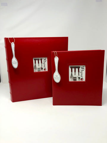 Recipe Book - Red Leather