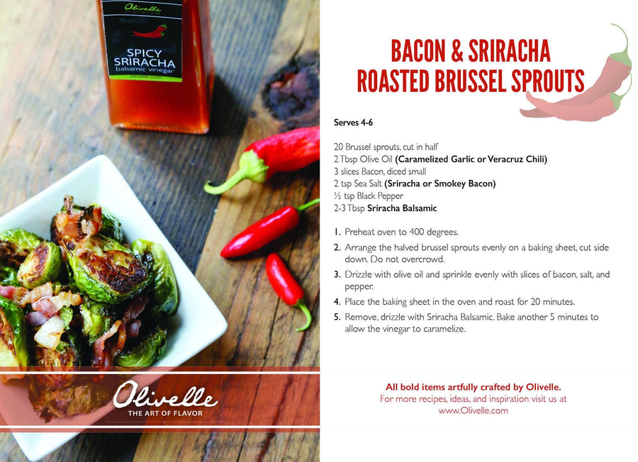 Bacon & Sriracha Roasted Brussel Sprouts Recipe Kit