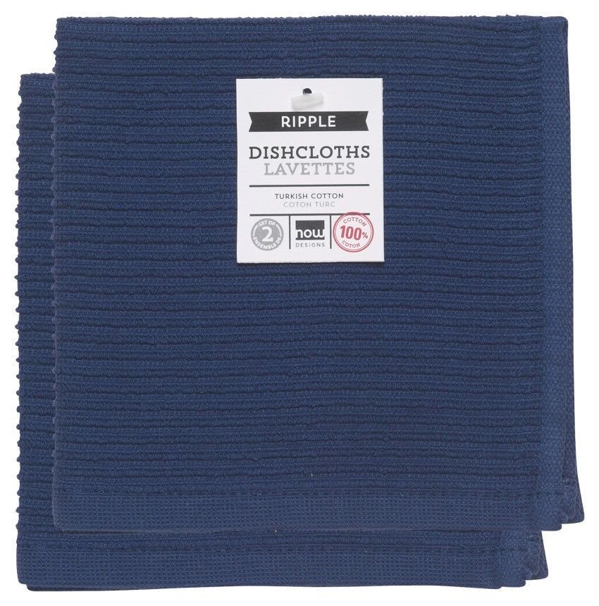 Ripple Dishcloths - Indigo