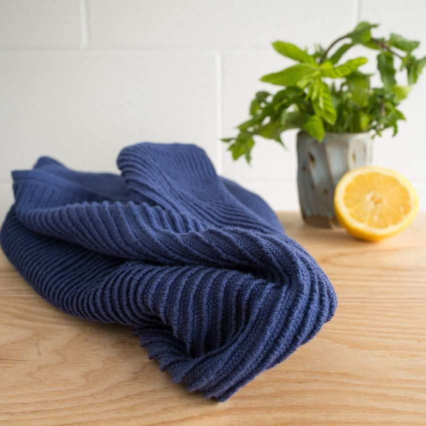 Ripple Dishtowel - Indigo