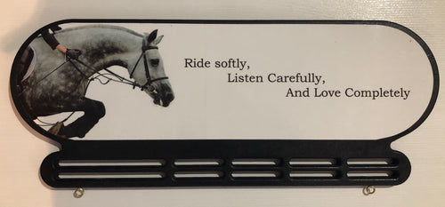 Ride softly, listen carefully and love completely